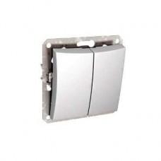 Дуэт - выключатель б/рамки - скр. уст. - 2-кл. 10АХ - белый - IP20 WDE000151