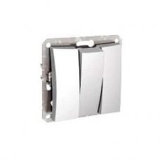 Дуэт - выключатель б/рамки - скр. уст. - 3-кл.- 10АХ - белый - IP20 WDE000131