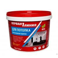Краска акрил. для потолка  белоснежная 14 кг Перва...