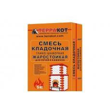 ТЕРРАКОТ Кладочная смесь жаростойкая глино-шамотная 5кг (216)