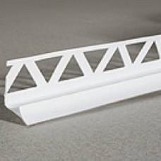 Угол для плитки  №11 внутренний белый 1/50шт.(Идеал)