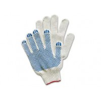 Перчатки №13 х/б с ПВХ 6 нитей, 10 класс (белые)...