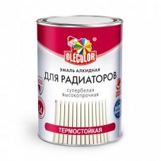 Эмаль Олеколор алкидная для радиаторов белый 0,9кг...