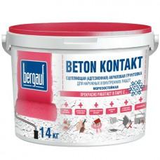 Бергауф грунтовка адгезионная акриловая  14 кг  Bergauf Beton Kontakt морозостойкий
