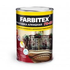 Грунт ГФ-021 серый 0,9 кг FARBITEX 4300002078...