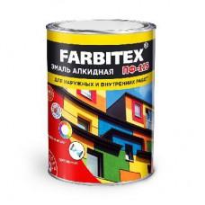 FARBITEХ  Эмаль алкидная ПФ-115 черная 0,9кг...