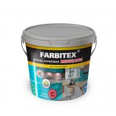 Краска акриловая моющаяся (3кг) FARBITEX...