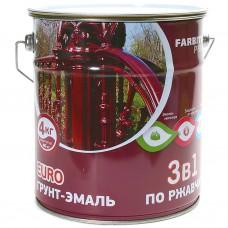 Грунт-эмаль по ржавчине красно-коричневый  2 кг FA...