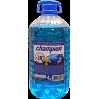 Жидкость незамерзайка ЧЕМПИОН 5 л.синяя (-30) (за ...