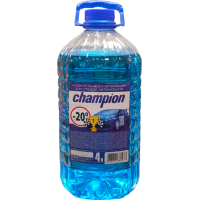 Жидкость незамерзайка ЧЕМПИОН 4л синяя (-30) (за н...