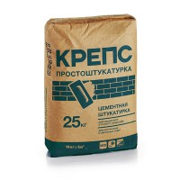 Крепс Штукатурка  цементная Простоштукатурка (25кг...