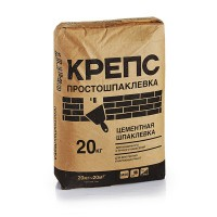 Крепс Шпаклевка цементная  Простошпаклевка (20кг) ...